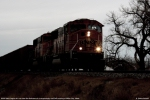 BNSF 9931 SD70MAC into the rural darkness