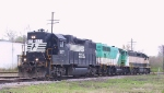 A NS GP38-2 assists two ACWR units