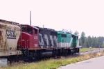 TBRX 703 & 9582 lead an ACWR train towards Pinehurst