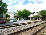 The depot, Henry Clay Inn, and RF&P main
