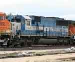 EMDX 9038 on NB freight