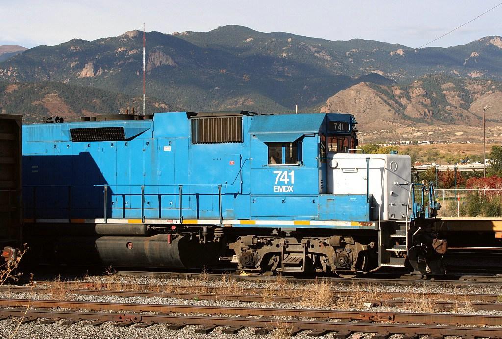 EMDX 741 in the BNSF yard