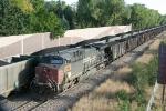 UP 6306 pushing a SB coal train