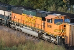 BNSF 9891 helping push a SB coal train
