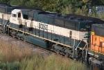 BNSF 9780 helping push a SB coal train