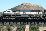 BNSF 9802 on a SB coal train