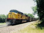 UP 8015 east with 8123 DPU