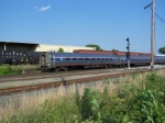 Amtrak Passes a Freight