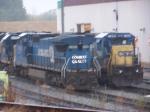 CSX 7302 in rain