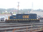CSX 8351 in Rain and Fog