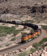 BNSF 4629 leads this mixed manifest