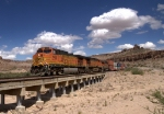BNSF 5493 leads this intermodal
