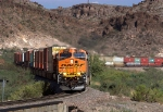 BNSF 7519 leads this intermodal westbound