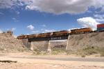 BNSF 7525 passing over the old Santa Fe bridge