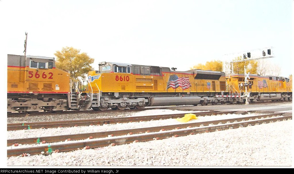 UP 8610 is the second unit on a East bound inter modal