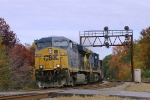 Southbound freight with GEVO passes through Contentnea Jct