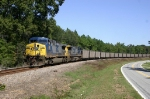 Southbound hopper train cruising by