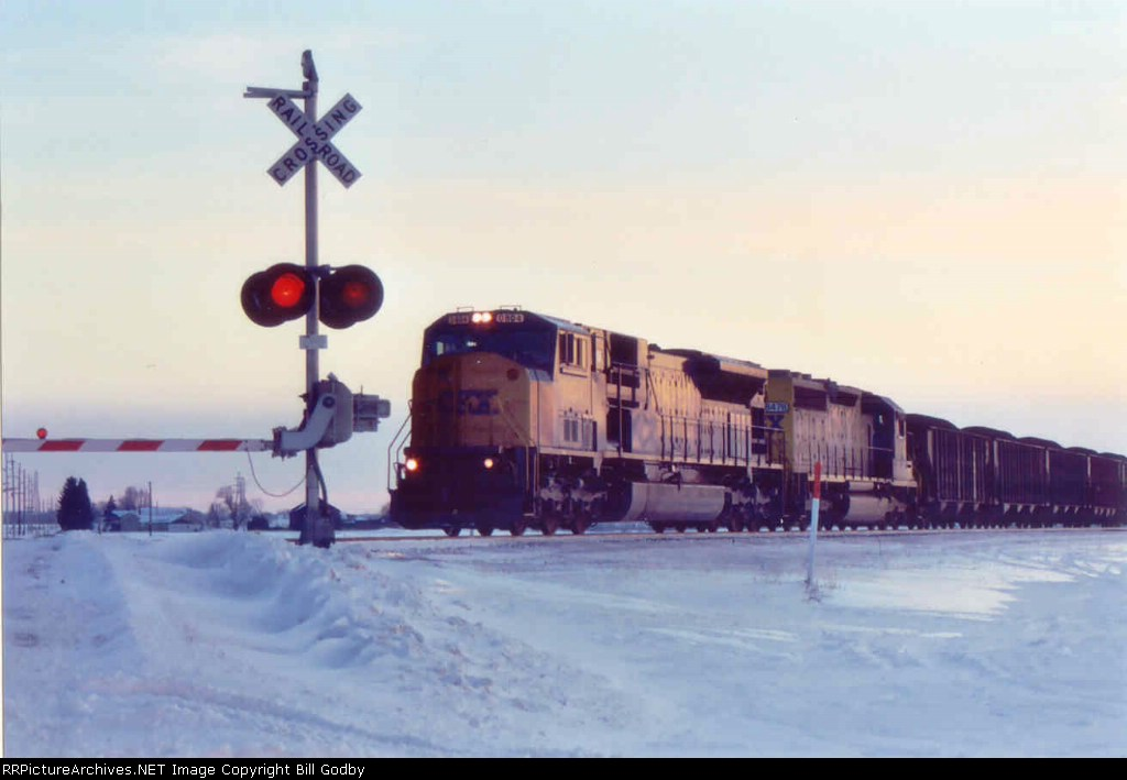 SD80MAC 0804 leading a coal train east