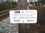 CSX Milepost OKC 15.44
