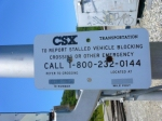 New Milepost Sign CSX Milepost KC 9.9