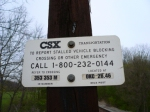 CSX Mile Post KC 26.46