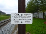 CSX Mile Post OOT 102.17