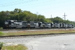 Six unit consist heading back to the yard