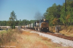 After meeting Q145, CSX 8757 leads G447, an empty Grain Train north on the main