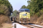 Southbound freight flies by MP 557
