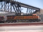 BNSF 7512 rear pusher in an empty grain train at 12:14pm