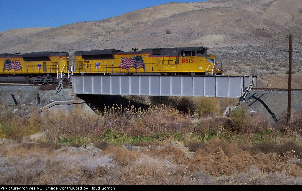 UP 8615 crossing the Burnt River.