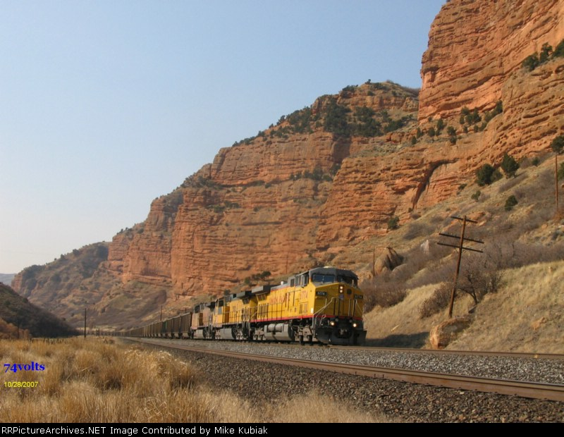 Another look at UP 6774 hauling a coal train