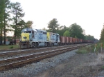 CSX 6441 and 2214 with a Ballast Train
