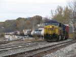CSX 669 & 4501 leading Q335 into the yard on a typical cloudy November day
