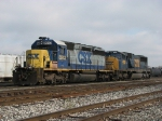 CSX 8043 & 4529 sitting near the west end after coming in with Q335