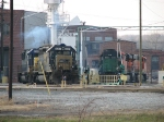 EMD's and GE's congregate at the diesel shop