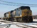 After bringing Q326 in, CSX 578 & 8437 head for the diesel shop