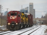 CP 5813 leads two NREX units as X500-07 storms away from downtown