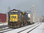 CSX 8530 & 7680 start east on the point of Q326-31