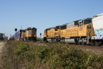 Northbound Intermodal Meeting a Southbound Manifest