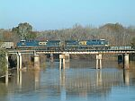 CSX Coal train crossing the Flint River