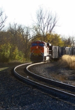 Southbound KCS Loaded Coal Train DPU
