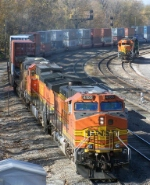 Eastbound BNSF Intermodal Passing Tied Down BNSF Local Assigned Locomotives