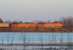Northbound KCS Empty Coal Train DPU's