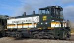Badwater Railway switcher idles in yard
