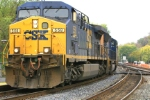 CSX 558 leads 140 coal hoppers with helpers