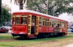 VonDullen streetcar 460 returning to Carrollton Barn after a days work