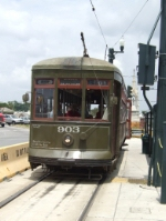 NORTA streetcar 903 at Cemeteries terminus
