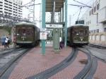 NORTA streetcar 954 meets 932