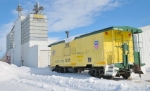 CNW Caboose in Snow
